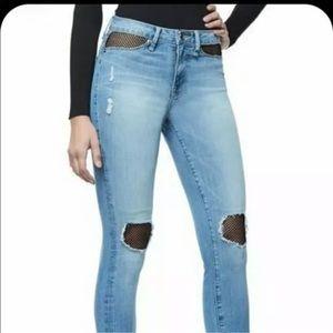 Good American fishnet jeans